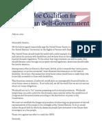 Coalition Letter Opposing CRPD
