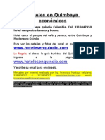 Hoteles en Quimbaya Economicos