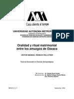 Oralidad y Ritual Matrimonial entre los amuzgos de Oaxaca