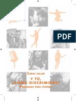 Curso taller. y tú ¿Cómo discriminas? Programa para jóvenes