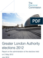 Electoral Commission Report Into London May 2012 Elections