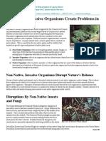 Non-Native, Invasive Organisms Create Problems in Connecticut