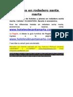 Hoteles en Rodadero Santa Marta