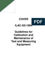 Guía para la calibración y el mantenimiento de equipo