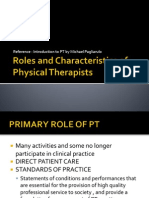 Roles and Characteristics of Physical Therapists