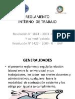 REGLAMENTO Interno Diapositivas