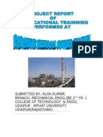 Summer Training Project Report of Ntpc on Mech Engg