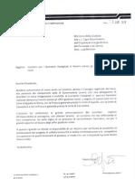 Lettera Assessore Zezza al Min. Giustizia su Precari Giustizia