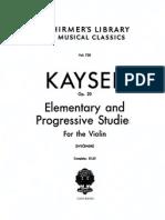 Kayser 36 Studies Op 20 for Violin