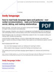 Body Language - Guide to Reading Body Language Signals in Management, Training, Courtship, Flirting and Other Communications and Relationships