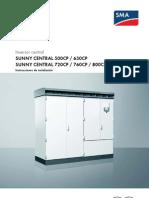 Manual de Instalación Sunny Central 500CP 630CP 720CP 760CP 800CP