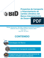 Proyectos Transporte Financiamiento Bid