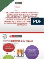 PPT Nº 1 OBJETIVOS DEL TALLER