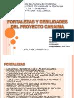 Fortaleza y Debilidades Del Proyecto Canaima