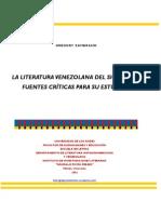 Gregory Zambrano La Literatura Venezolana Del Siglo Xix Fuentes Criticas Para Su Estudio