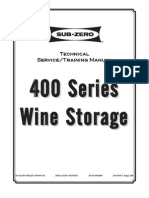 Sub-Zero 400 Series Job Aid #3756394 (Rev D Aug 2003)