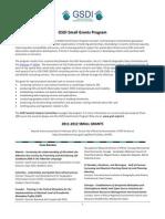 GSDI Small Grants Program Flyer