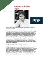 Entrevista con el físico Fritjof Capra