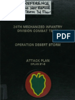 24th Mechanized Infantry OPLAN 91-3