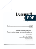 Leavenworth Papers No. 3 Not War, But Like War