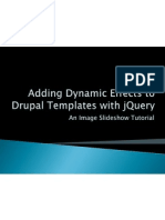 Adding Dynamic jQuery Effects to Drupal Templates
