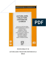 50661618 Ribla 40 Lectura Judia y Relectura Cristiana de La Biblia