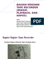 Bagian Mekanik Tape Recorder