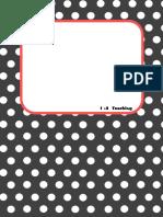 Polka Dot Section Dividers for Teacher Binder