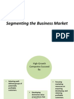 Segmenting the Business Market