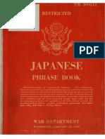 TM 30-641 Japanese Phrase Book 1944