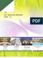 Kamat Hotel India Annual Report 2011
