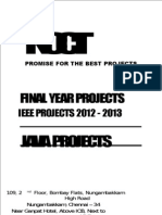 Java BE Engineering Student Projects