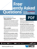 National Lead Free Frequently Asked Questions Guide