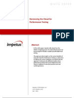 Harnessing the Cloud for Performance Testing- Impetus White Paper