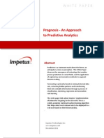 Prognosis - An Approach to Predictive Analytics- Impetus White Paper