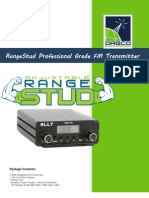 Rangestud 20w Fm Transmitter Instruction Manual-czh-15a