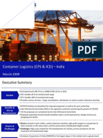 Market Research India - Container Logistics (CFS & ICD) Market in India 2009