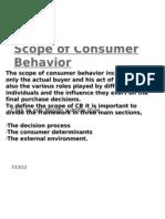 Scope of Consumer Behavior