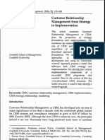 CRM - From Strategy to Implementation
