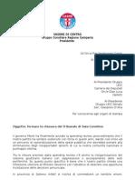 Lettera Delegazione Udc - Fermare la chiusura del Tribunale Di Sala