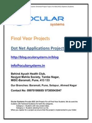Dot net Applications Projects BCA BCS Diploma | Surveillance | World