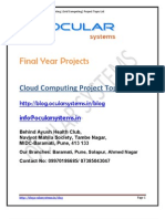 Cloud Computing IEEE Project Topics Ocularsystems.in