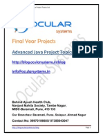 Advanced Java Applications Projects OcularSystems.in