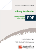 Military Academies, Green Paper
