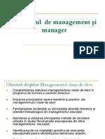 Curs 1 - Conceptul de Management Si Manager