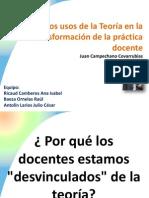Usos de La Teoría en el análisis de la práctica docente