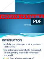 Export of Automobile -By Sandeep Kumar Sec A
