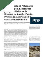 Aproximación al Patrimonio Arqueológico, Etnográfico y Arquitectónico de la Comarca de Agache-Fasnia. Primera caracterización y valoración patrimonial