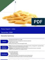 Market Research India - Pasta Import Market in India 2009