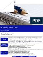 Market Research India - Stationery Market Market in India 2009